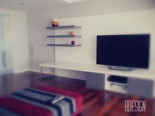 Estudio BDesign Soggiorno minimalista PVC Rosso