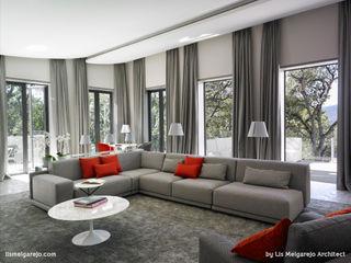 Lis Melgarejo Arquitectura Nowoczesny salon