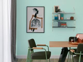 SCHÖNER WOHNEN-FARBE Paredes y pisos de estilo moderno Verde