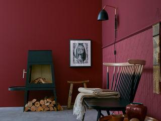 SCHÖNER WOHNEN-FARBE Paredes y pisos de estilo moderno Rojo