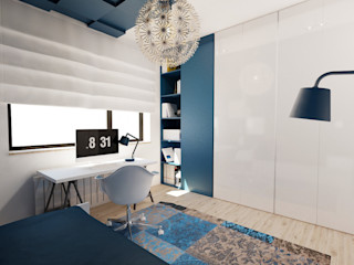 Ale design Grzegorz Grzywacz Scandinavian style nursery/kids room Blue