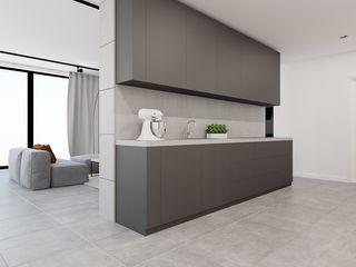 Ale design Grzegorz Grzywacz Minimalist kitchen Grey