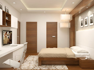 Master Bedroom- homify Modern Bedroom Plywood Brown