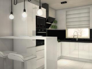 Black&White Kitchen Arch/tecture Nowoczesna kuchnia