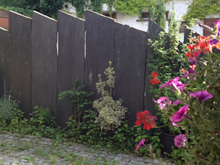 Zäune MM NATURSTEIN GMBH GartenZäune und Sichtschutzwände Stein Schwarz