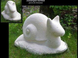 Arlequin ArtworkSculptures Stone White