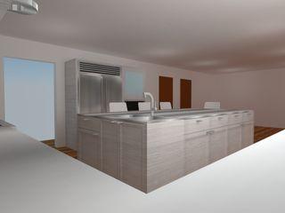 COCINA ABIERTA ARCE FLORIDA Cocinas de estilo moderno Madera Acabado en madera