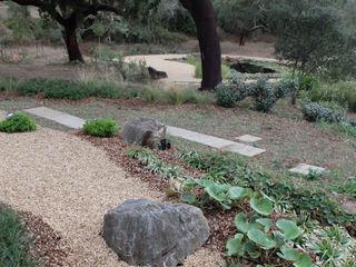 Jardim com piscina natural Atelier Jardins do Sul Jardins ecléticos