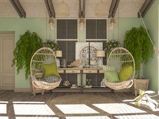 """балкон """"Mediterranean plants"""" Студия дизайна Дарьи Одарюк Терраса в средиземноморском стиле Многоцветный"""