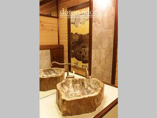 Шале в Крымских горах Дорогой Дом Ванная комната в скандинавском стиле