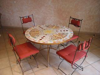 Plateaux de table en mosaïque (Pièces uniques) CHRISTOU Artiste/mosaïste SalonAccessoires & décorations