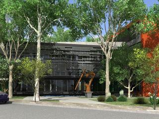 JARDIN OFFICE VILARRODONA ARQUITECTOS Edificios de oficinas de estilo moderno