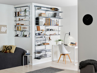 Elfa Deutschland GmbH Estudios y oficinas estilo escandinavo Metal Blanco