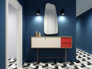 Studio 25 Pasillos, vestíbulos y escaleras de estilo escandinavo Multicolor