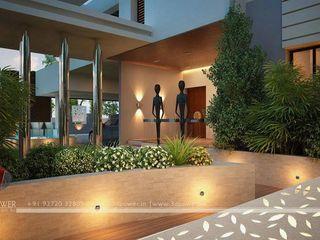 3D Power Visualization Pvt. Ltd. Balcones y terrazas de estilo moderno