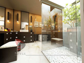 3D Power Visualization Pvt. Ltd. Baños de estilo moderno