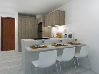 COCINA PEQUEÑA ARCE FLORIDA Cocinas de estilo moderno Madera Acabado en madera