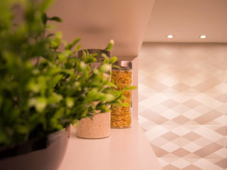 Juliana Souto Arquiteta Cuisine moderne Quartz Jaune