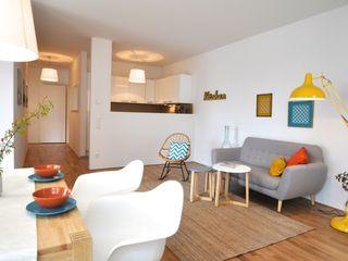 kleine Musterwohnung Karin Armbrust - Home Staging Skandinavische Wohnzimmer