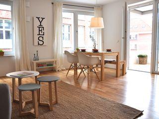 kleine Musterwohnung Karin Armbrust - Home Staging Skandinavische Esszimmer