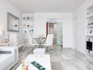 Apartamento con encanto Espacios y Luz Fotografía Salones de estilo escandinavo