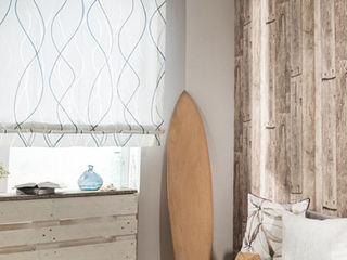 Indes Fuggerhaus Textil GmbH 窓&ドアカーテン テキスタイル 青色