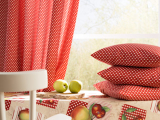 Indes Fuggerhaus Textil GmbH 窓&ドアカーテン テキスタイル 赤色