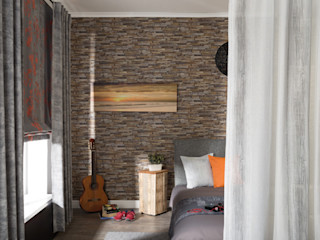 Indes Fuggerhaus Textil GmbH 窓&ドアカーテン テキスタイル ブラウン