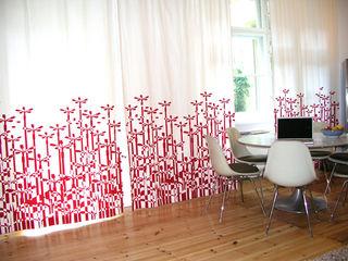 s.wert design Modern Dining Room Red