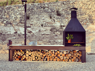 raddi ARQUITECTES Garden Fire pits & barbecues