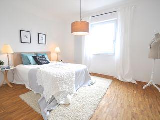 Home Staging in einer Mietwohnung Karin Armbrust - Home Staging Schlafzimmer im Landhausstil