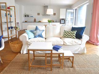 Home Staging in einer Mietwohnung Karin Armbrust - Home Staging Wohnzimmer im Landhausstil