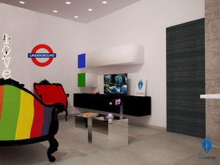 blucactus design Studio Eclectic style living room