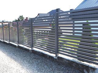 Nive GartenZäune und Sichtschutzwände Aluminium/Zink Grau