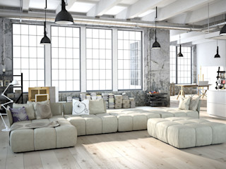 Fang Interior Design Livings de estilo minimalista