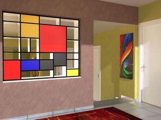 Abitazione a Perugia - Interiors in Perugia Planet G Ingresso, Corridoio & Scale in stile moderno
