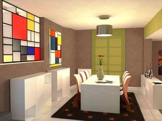 Abitazione a Perugia - Interiors in Perugia Planet G Sala da pranzo moderna