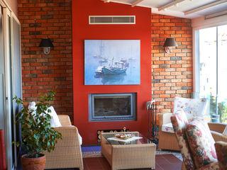 İndeko İç Mimari ve Tasarım Balcon, Veranda & Terrasse modernes