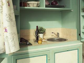 LA BOTTEGA DEL FALEGNAME Kitchen Solid Wood Green