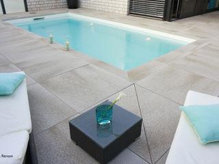 Reduzierter Garten mit Pool dirlenbach - garten mit stil Moderne Pools
