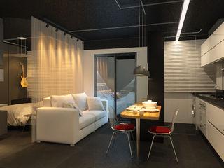 Eduardo Novaes Arquitetura e Urbanismo Ltda. 客廳凳子與椅子