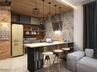 SIBEL SARIKAYA INTERIOR DESIGN OFFICE Industrial style kitchen