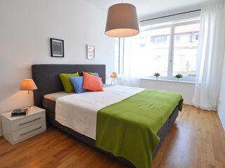 Alte Musterwohnung aufgepeppt Karin Armbrust - Home Staging Moderne Schlafzimmer