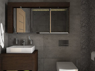 Estudio BAM Minimalist style bathrooms