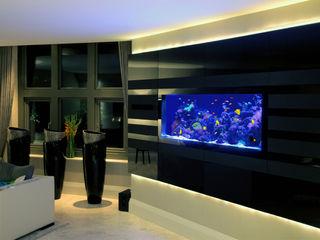 Richmond Residence Aquarium Architecture Modern living room