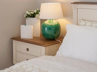 Alfama Home Vintage SypialniaŁóżka i zagłówki Drewno Biały