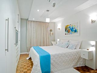 Patrícia Azoni Arquitetura + Arte & Design Спальня Білий