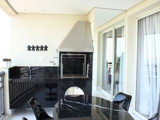 Estúdio Plano Modern style balcony, porch & terrace