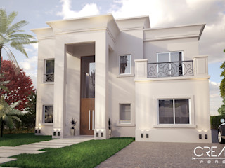 Creatura Renders Colonial style houses