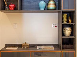 Ana Adriano Design de Interiores Коридор, прихожая и лестница в модерн стиле Мрамор Коричневый